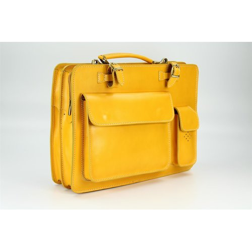 BELLI Design Bag Verona Leder Businesstasche gelb