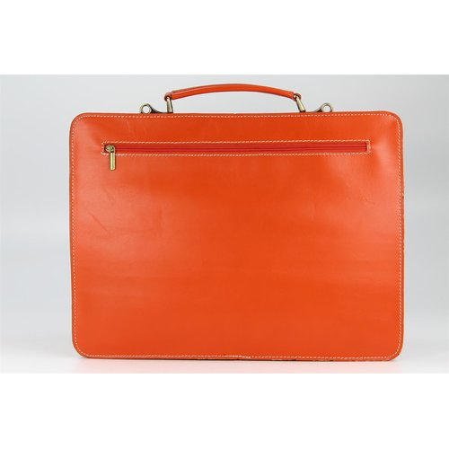 BELLI Design Bag Verona Leder Businesstasche orange