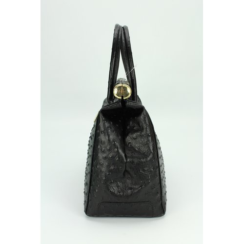 BELLI The Bag XL Ledertasche schwarz strauss