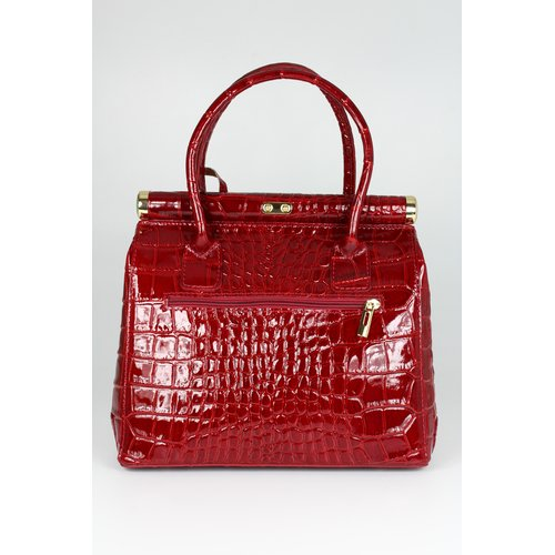 BELLI The Bag L Ledertasche bordeaux lack kroko