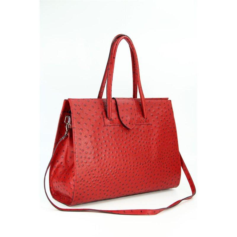 belli design bag c leder handtasche bordeaux rot str. Black Bedroom Furniture Sets. Home Design Ideas