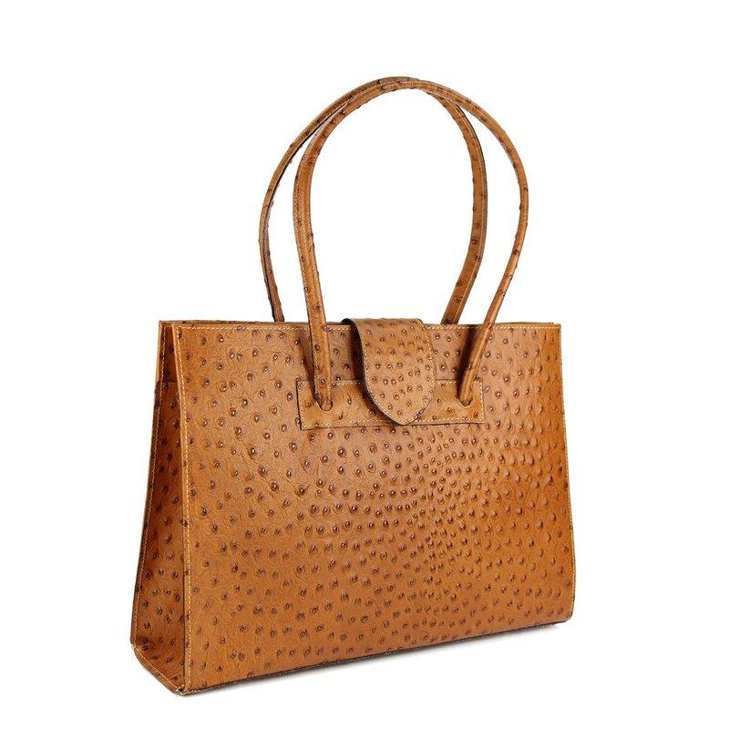 belli design bag c leder handtasche cognac strauss. Black Bedroom Furniture Sets. Home Design Ideas