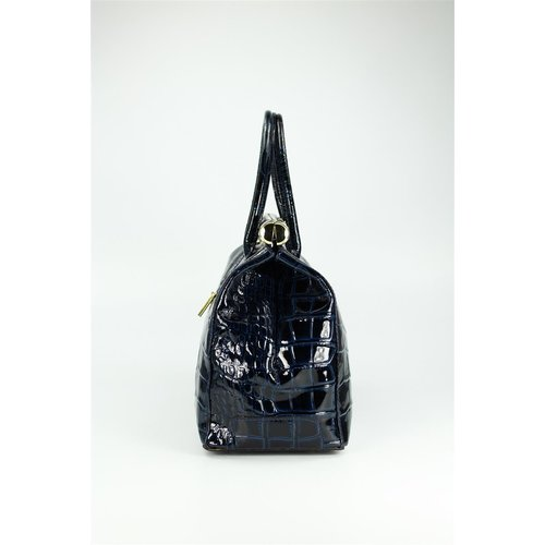 BELLI The Bag XXL Ledertasche dunkelblau lack kroko
