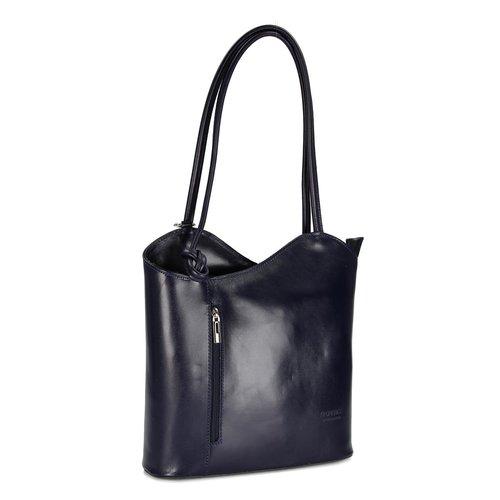 Belli Leder Handtasche Rucksack Belli Backpack Dunkelblau