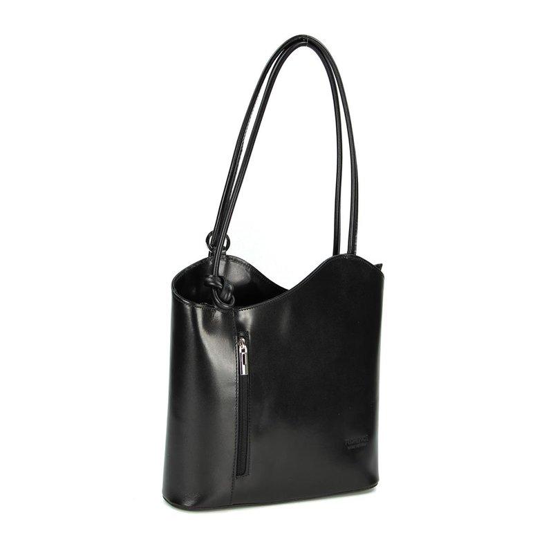 belli leder handtasche rucksack belli backpack schwarz. Black Bedroom Furniture Sets. Home Design Ideas