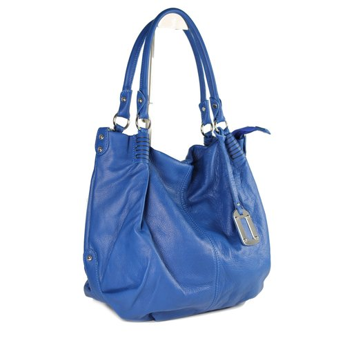 Belli Nappaleder Shopper royal blau