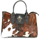 BELLI exclusive Fell Ledertasche kroko schwarz kuh
