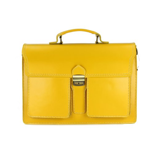 BELLI Design Bag B Leder Businesstasche unisex gelb
