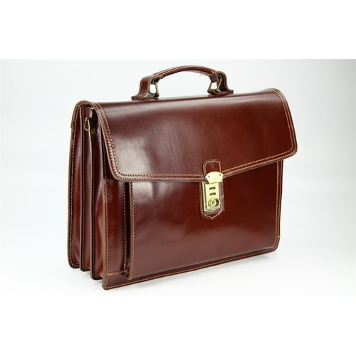 BELLI Design Bag D Leder Business Bag maronenbraun