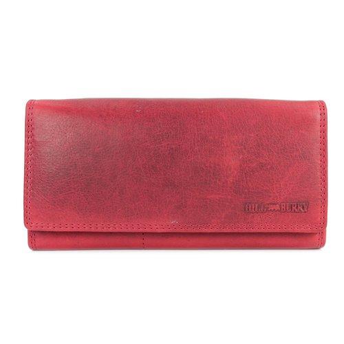 65dea582be657 Hill Burry Vintage Leder Damen Geldbörse Portemonnaie rot 77705 - Bel