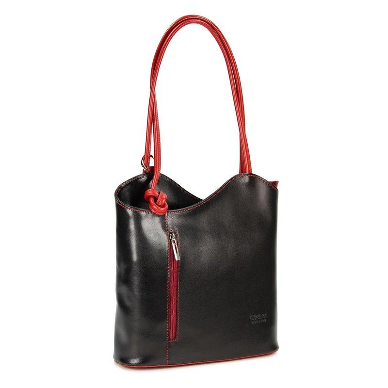 belli leder handtasche rucksack belli backpack schwarz ro. Black Bedroom Furniture Sets. Home Design Ideas