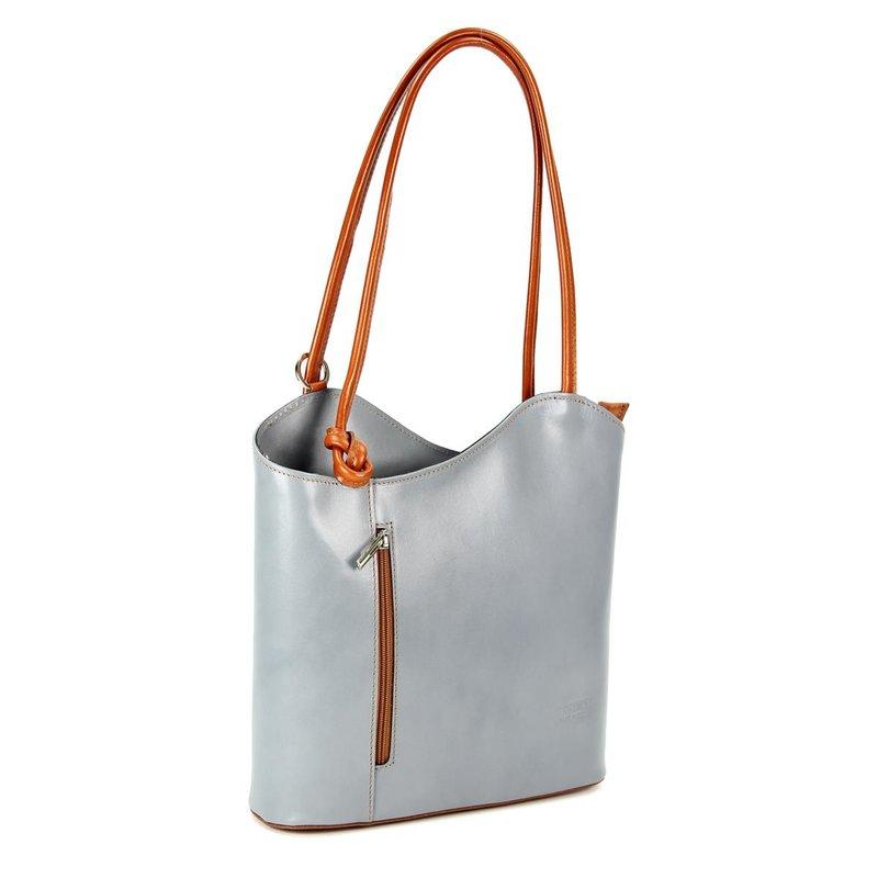 belli leder handtasche rucksack belli backpack grau cogna. Black Bedroom Furniture Sets. Home Design Ideas