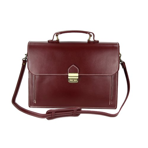 BELLI Design Bag Tennessee mittelgroße Leder Businesstasche unisex bordeaux