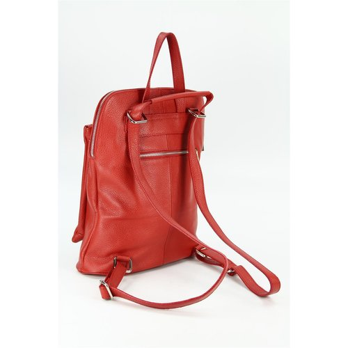 BELLI Backpack Seattle Leder Rucksack rot
