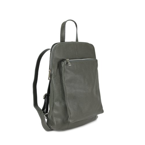 BELLI Backpack Seattle Leder Rucksack grau