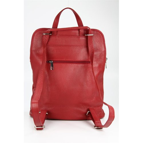 BELLI Backpack Seattle Leder Rucksack bordeaux rot