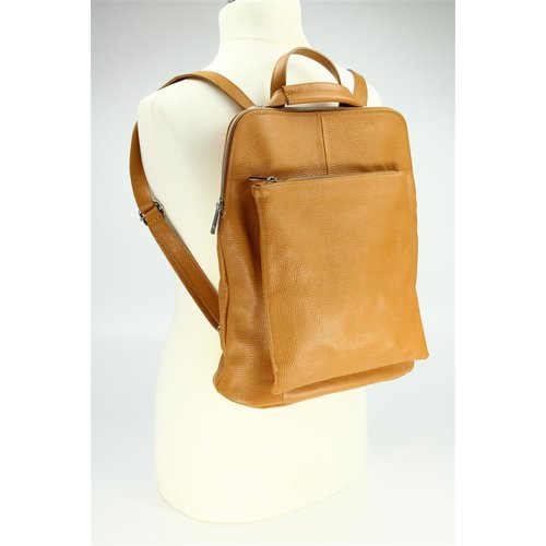 BELLI Backpack Seattle Leder Rucksack cognac