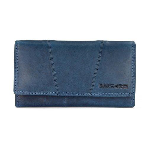 d5ca39526fb7e Hill Burry Vintage Leder Damen Geldbörse Portemonnaie blau 777023 - B