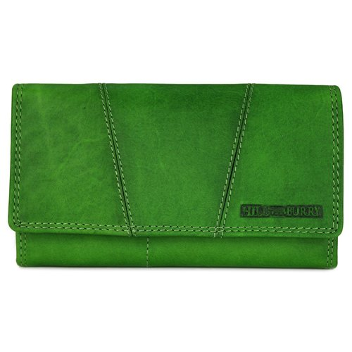 5684e9b84dfad Hill Burry Vintage Leder Damen Geldbörse Portemonnaie grün 777023 - B