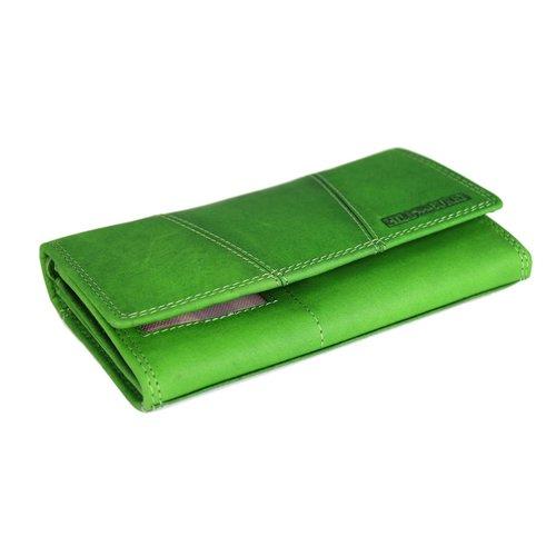 9989b0becb718 ... Hill Burry Vintage Leder Damen Geldbörse Portemonnaie grün 777023 ...