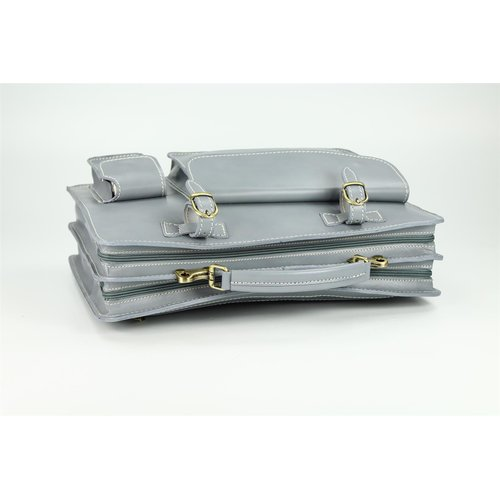 BELLI Design Bag Verona Leder Businesstasche grau