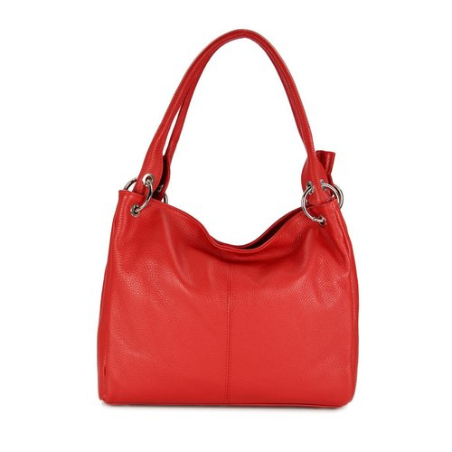 BELLI Leder Schultertasche Shopper Lilly rot