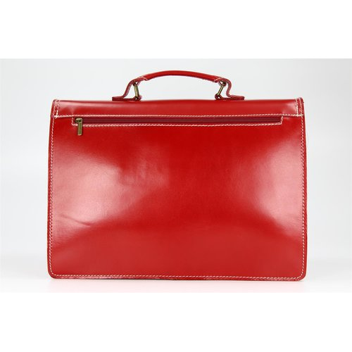 BELLI Design Bag B Leder Businesstasche unisex rot