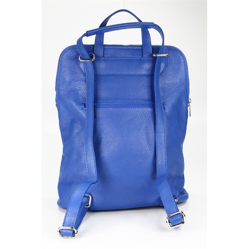 BELLI Backpack Seattle Leder Rucksack royalblau