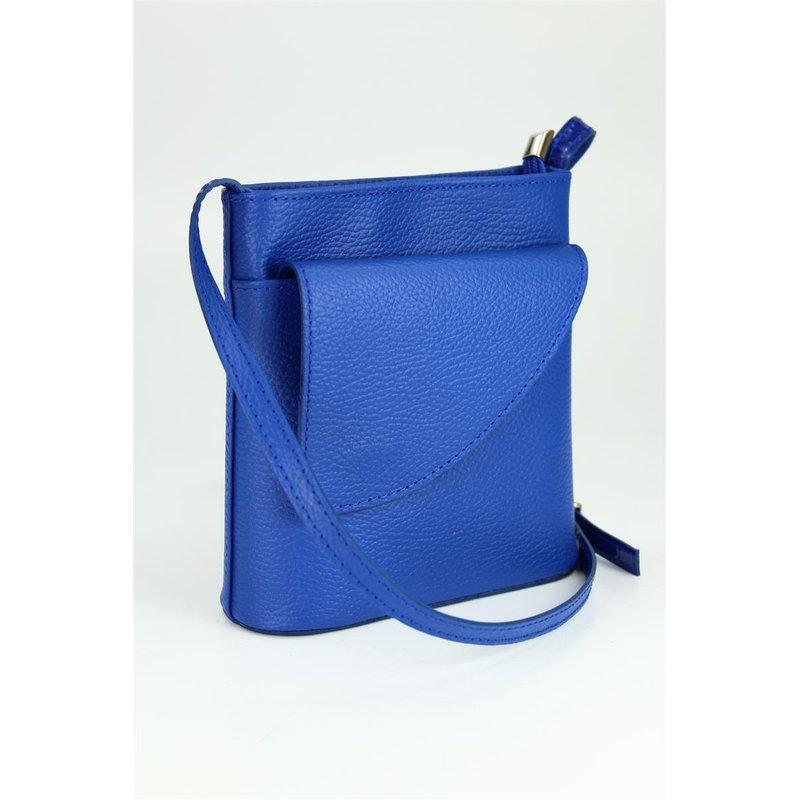 BELLI kleine Leder Umhängetasche Schultertasche royal blau