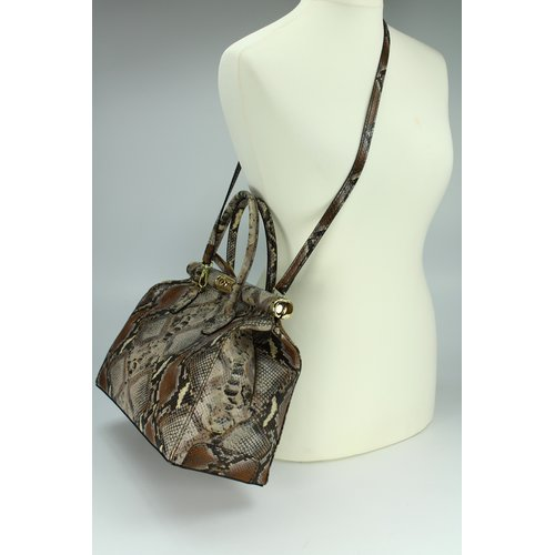 BELLI The Bag XL Ledertasche gemustert snake