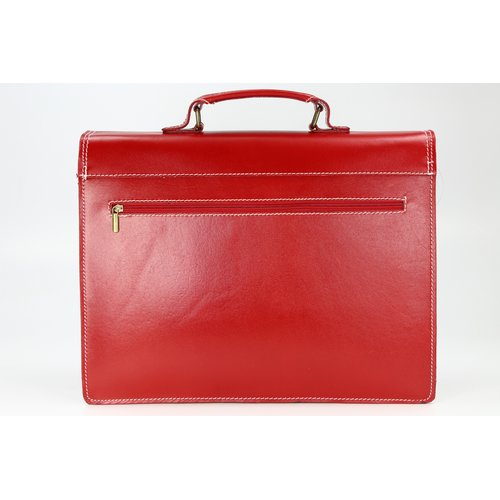 BELLI Design Bag D Leder Businesstasche rot