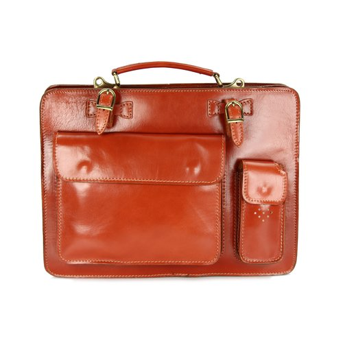 BELLI Design Bag Verona Leder Businesstasche cognac